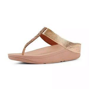 Fit flop fino glitz rose gold sandals New sz 9 10